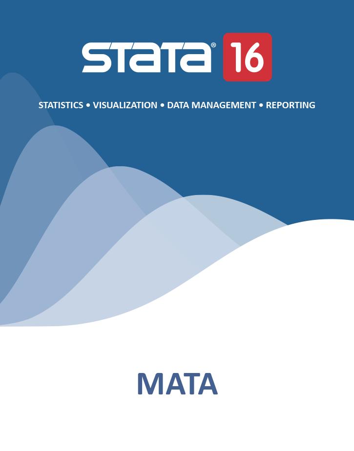 Mata Reference Manual | Stata Press